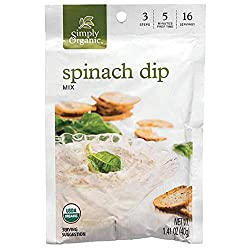 Simply Organic Spinach Dip Mix, Certified Organic, Gluten-Free | 1.41 oz