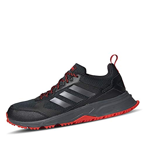 adidas Herren Rockadia Trail 3.0 Laufschuhe, Schwarz (Core Black/Night Met./Active Red), 44 EU