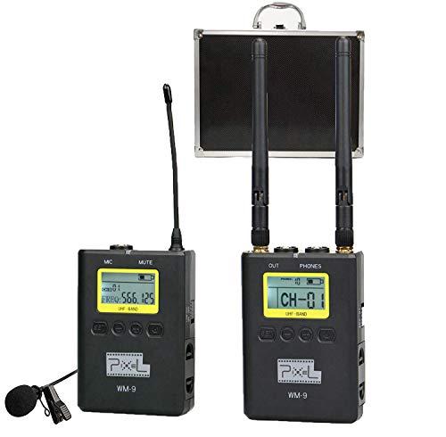 Pixel WM-9 UHF Micrófono Lavalier Inalámbrico microfono Solapa con ...