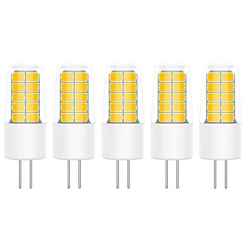 5X G4 LED Lampe 3W LED Leuchtmittel Warmweiß 3000K LED Bulb 20 SMD 2835 LEDs Super Hell 300LM Äquivalent zu 30W Halogen AC/DC12V