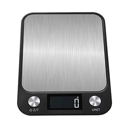 rongweiwang 10kg / 1g Digital multifunción balanza de Cocina de Acero Inoxidable Unidad de conmutación balanza de Cocina para Hornear Que cocinan la Escala del alimento