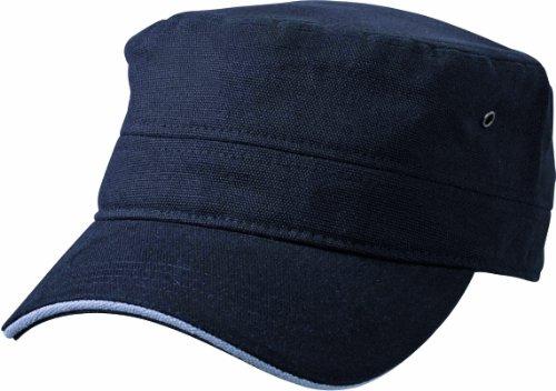 Myrtle Beach Casquette Militaire Sandwich Noir Black/Dark-Grey Taille Unique