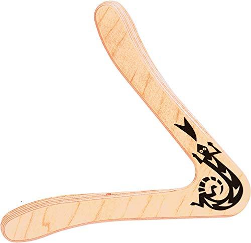 Paul Günther 1378 - Boomerang Sirius, klassische Form, ca. 25 cm groß, aus 44 mm starkem finnischem Flugsperrholz, fliegt ca. 15 - 20 m weit, für Rechtshänder geeignet