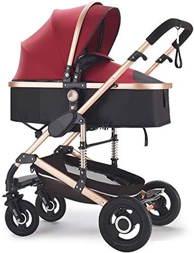 IOUYRRN Función de rotación del cochecito de bebé 360, carro de actualización para recién nacido, construcción duradera, asiento de reclinación de múltiples posiciones, fácil y viajes (color: estilo 5