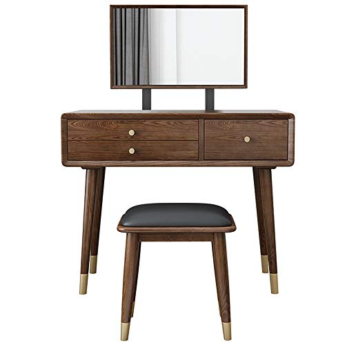 New BoeWan Practical Modern Dresser Personality Vanity Set with Mirror,Make-up Dressing Table with 3...