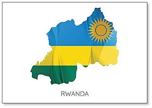 Kühlschrankmagnet mit Flagge von Ruanda