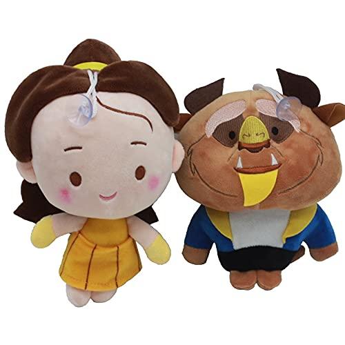 Peluches 2 Unids / Lote 20cm Película La Bella Y La Bestia Princesa Juguetes De Peluche Muñeca Juguetes De Peluche Suaves Regalos para Niños