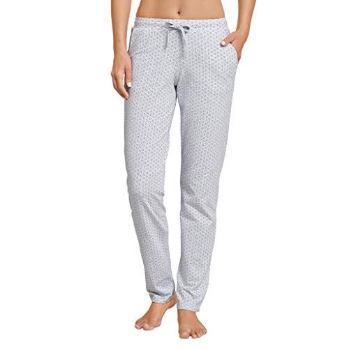 Schiesser Damen Mix & Relax Jerseyhose lang Schlafanzughose, Grau (Grau-Mel. 202), 40