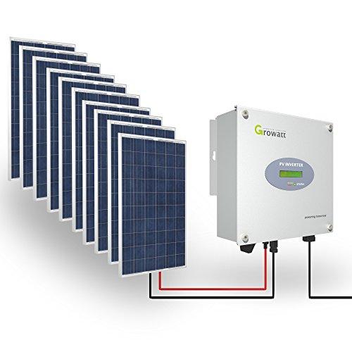Growatt Solar Set 3000-S PV Inverter 3000 W Wechselrichter Solar 1-phasig Display
