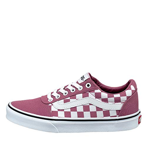 Vans Ward Canvas, Sneaker Donna, Multicolore ((Checkerboard) Heather Rose/White Xwm), 37 EU