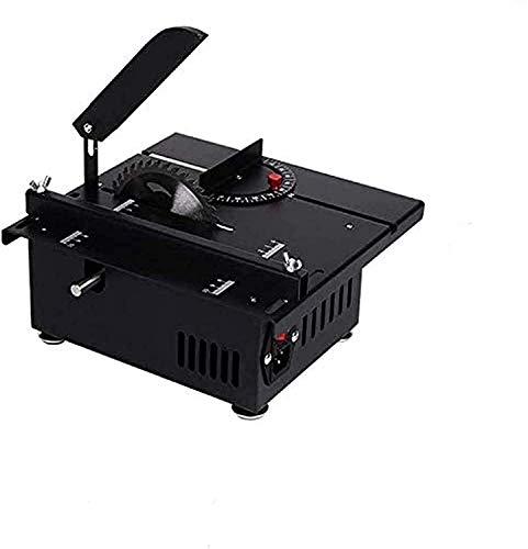 InLoveArts Mini sierra de mesa de 1200 W, modelo de bricolaje, sierra de corte, corte multiángulo, 10000 r/min, máquina pulidora de torno para carpintería de 40 mm