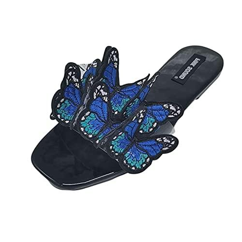 WJYCGFKJ Sandalias Originales para Mujer Sandalias con Lazo de Colores con Plantilla de Esterilla de Yoga Sandalias de Senderismo Zapatos Ligeros