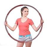 TYCOLIT Hula Hoop Fitness Desmontable, Professional Hula Hoop Adultos Fitness 1.2kg para Adelgazar, Ancho Ajustable (19-37in),Aro de Fitness con Caja de Color