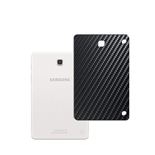 Vaxson 2 Unidades Protector de pantalla Posterior, compatible con Samsung Galaxy Tab A 8.0 3G SM-T351 t355c, Película Protectora Espalda Skin Cover - Fibra de Carbono Negro