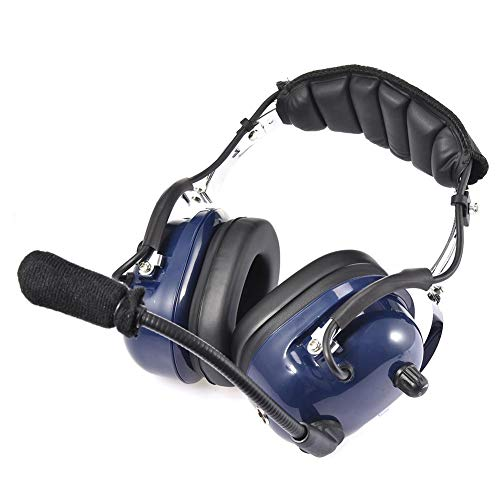 Aviation MP3-Headset General Pilot-Headset Mit 24 DB-Rauschunterdrückung, GA-Doppelsteckern, MP3-Musik-Eingang Und Headset, MP3-Musik-Eingang Mit Komfort-Gehörschutz Und Windschutzschaum-Mikrofonmuffe