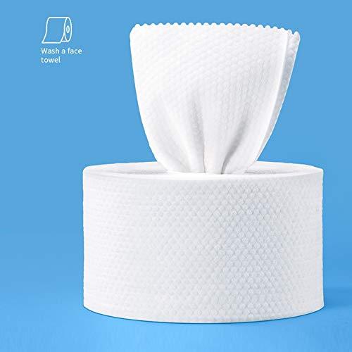 Einweg-Handtuchrolle, Vliesstoff, weich, 100 % Baumwolle, trocken und nass