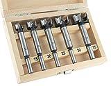 ENT 25100 5-tlg. Forstnerbohrer Set WS Ø 15-20-25-30-35 mm - für einfaches Bohren von Sacklöchern in Weichholz