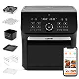COSORI 14-in-1 Smart Large Air Fryer Oven XL 7QT with 6 Accessories, Wi-Fi App & Alexa Control/Google home, 12 Presets & Shake Reminder, Keep Warm Preheat, Memory function, 1800W, Black