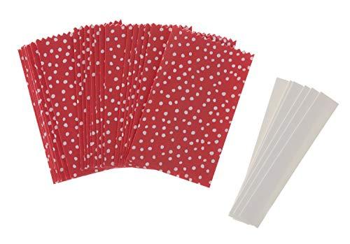 Papiertüten Sterne-Set klein Punkte Rot Papiersterne Sterne Papierbasteln