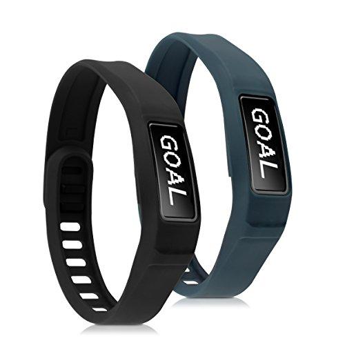 kwmobile Armband kompatibel mit Garmin Vivofit 2-2X Silikon Fitnesstracker Sportarmband