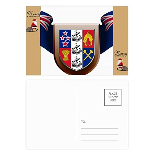 Nieuw-Zeeland Nationaal Embleem Land Kerstman Gift Ansichtkaart Thanks Card Mailing 20 stks