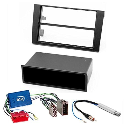 CARAV 11-001 Kit de 12 DIN Autoradio Façade d'autoradio pour A avec Adaptateur Actif pour A4 (B6) 2000-2006, A4 (B7) 2004-2009/ Exeo 2009-2013 avec Compartiment de Rangement