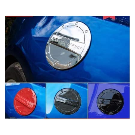 Highitem Newest Exterior Fuel Tank Cover Gas Lid Cap Accessories ABS For Chevrolet Camaro 2016 Up (Black)