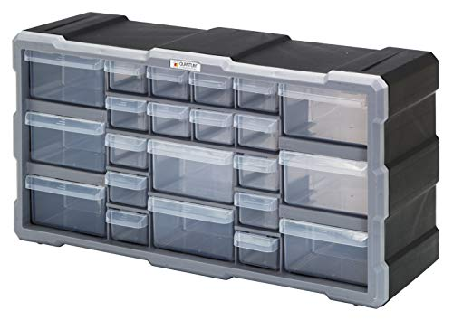 Durham 303B-15.75-95 Gray Cold Rolled Steel Heavy Duty Bearing Slide Rack for 4 Large Compartment Boxes 20 W x 15 H x 15-3//4 Depth