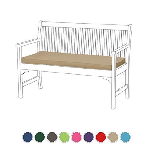 Gardenista Garden Bench Patio Pad | Bench Furniture Outdoor 2 Seater Cushion | Water Resistant Material | Comfortable Durable and Lightweight (Stone)