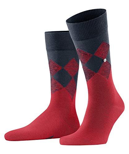 Burlington Herren Socken Hampstead, Baumwolle, 1 Paar, Rot (Lipstick 8000), 40-46 (UK 6.5-11 Ι US...