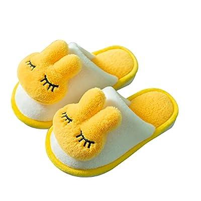KUBUA Girls Boys Winter Warm Indoor Bedroom Shoes Kids Slippers