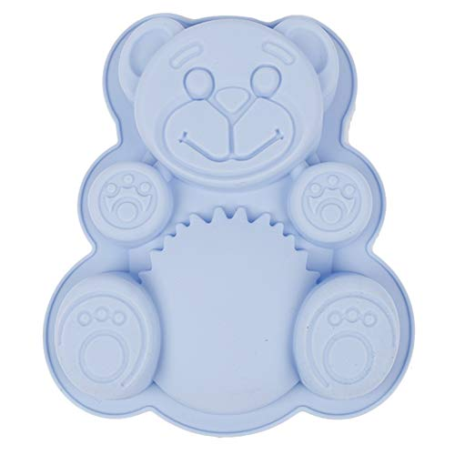 Silicone Bear Cake Pan - Baking Mold Non-stick - Silicone Baking Pan - Bread Bundt Pan For Cake Decorations - Bear Silicone Mold For Kids Birthday, Picnic, Any Party - Muffin Pan - Kitchen Supplies
