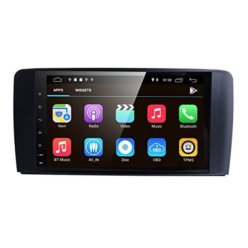 Android 10 Auto Navigation Audio Player + canbus mit 9 Zoll kapazitiven Touchscreen Spiegel link bt WiFi 4g SWC rdsobd2 eq dvr dab + fit für Benz ml-w164 (2005-2012) / gl-x164 (2005-2012)