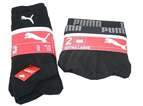 PUMA 5er Sonderpack Sport 3 Paar Socken & 2 Boxershorts Sport Life Style S-35/38 sw
