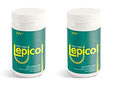 Lepicol 2 Pack – Original 3in1 Formulation – Contains Psyllium Husk, Inulin and 5 Strains of Live Bacteria – 2x 350g Powder (700g in total)