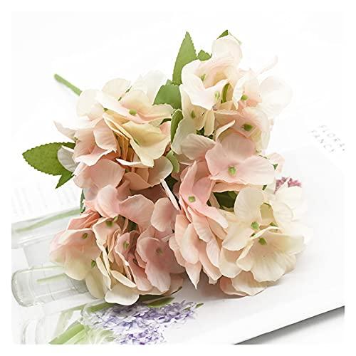 XIAOZSM Trockenblumen 1 Bündel 5 Gabeln Künstliche Blumen Hortensie Home Decoration Zubehör Hochzeit Tisch Einstellung Bonsai Weihnachten Foto Requisiten Geschenk Künstliche Blumen (Color : 2)