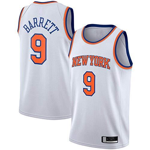 RJ Camiseta York Traning Jersey New Basketball Jersey Barrett Sportswear Knicks Cómodo #9 2019/2020 Swingman Jersey Blanco - Association Edition-M