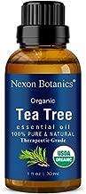 Organic Tea Tree Oil 30 ml - Certified USDA, Pure, Natural Undiluted Therapeutic Grade Tea Tree Essential Oil for Hair, Face, Skin, Acne and Scalp - Melaleuca Alternifolia Oils Nexon Botanics