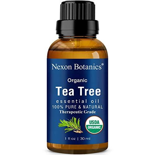 Organic Tea Tree Essential Oil 30 ml - Certified USDA, Pure, Natural Undiluted Therapeutic Grade Tea Tree Essential Oil For Hair, Skin and Scalp - Melaleuca Alternifolia Oils Nexon Botanics