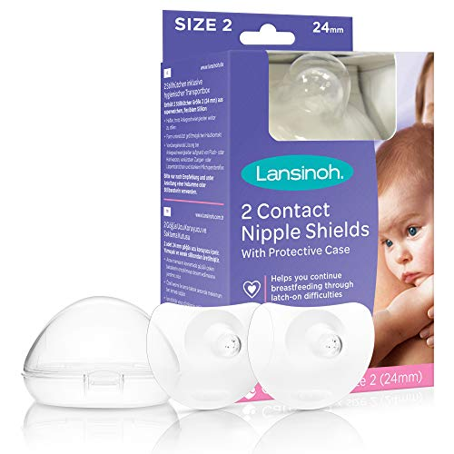 Lansinoh Contact Nipple Shields 2 pack, 24mm (Large)