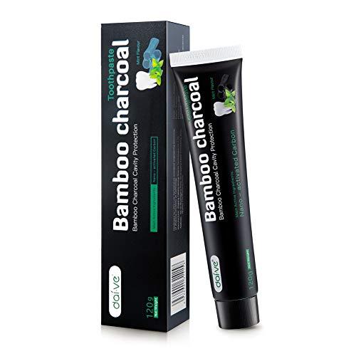 Aktivkohle Zahnpasta-Natürliche Zahnaufhellung-Schwarze Zahnpaste-Teeth Whitening Zahncreme-Zahnbleaching-Fluoridfrei- Minzgeschmack-100g