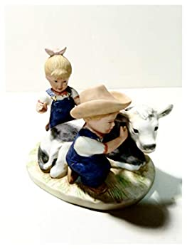 Denim Days The New Calf #8878 Home Interiors Collectable Figurines 5 Inches.