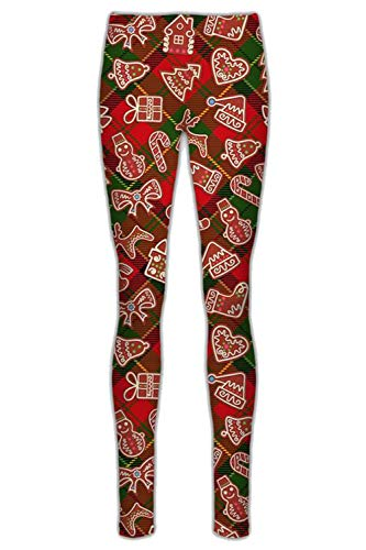 Fashion Star Girls Xmas Rudolph Reindeer Penguin Leggings Tartan Candy Red Age 5/6 years