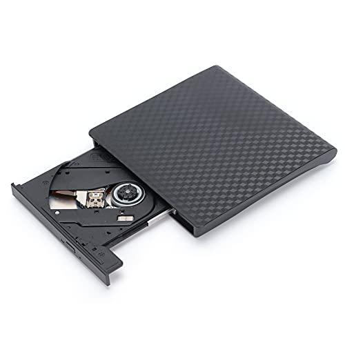 Aiwend Graveur de DVD/CD Externe, Lecteur de CD Externe USB3.0 Type‑C pour Ordinateur Portable de Bureau Lecteur Optique Externe Mobile Plug and Play Free Drive