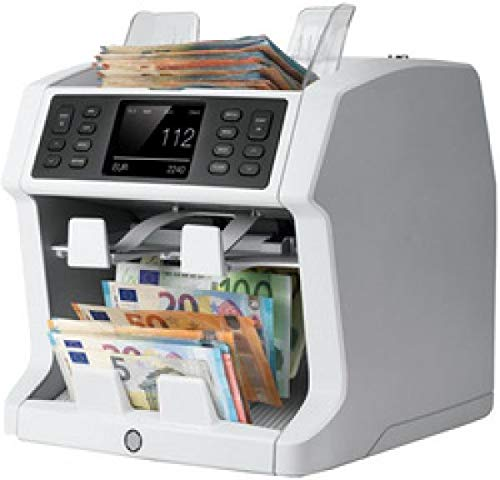 Safescan 2985-SX - Hochentwickelter Banknotenzähler mit 2 Fächern, mit Werterkennung und -sortierung für gemischte Geldscheine
