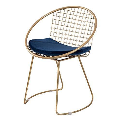 Silla De Comedor Nordic Modern Minimalist Gold Wire Chair Mesita Y Silla De Ocio Creativo