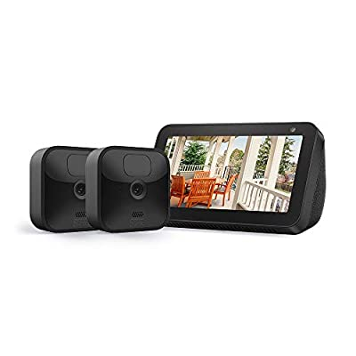 Echo Show 5 (Charcoal) with All-new Blink Outdoor- 2 camera kit from