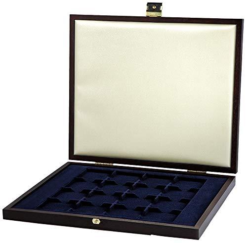 Fancery Münzen-Kassette Holzoptik 16 oder 12 Münzen Verschiedene Münzen 6300031 (16 Münzen)