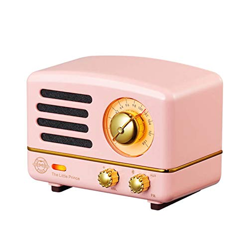 YaGFeng MW-2A Radio Little Prince Audrey Powder Portable Bluetooth Speaker Mini Wireless Phone Cute Retro Audio Home Subwoofer