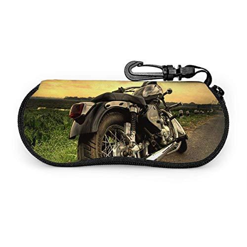 Royal Enfield Bullet Sonnenbrille mit Verschlussschnalle Soft Bag Ultraleichtes Tauchgewebe Reißverschluss Brillenetui